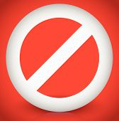image of restriction  - Red prohibition restriction  - JPG