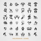 foto of insurance-policy  - Set insurance icons - JPG