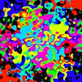 stock photo of amoeba  - Crazy abstract melted colorful shapes as wallpaper - JPG