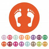 image of flat-foot  - The footprint icon - JPG