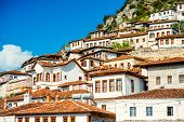 foto of albania  - Houses in city of Berat in Albania - JPG