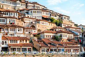image of albania  - Historic city of Berat in Albania - JPG