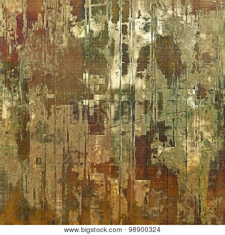 Grunge retro vintage textured background. With different color patterns: yellow (beige); brown; green; gray