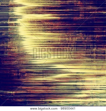 Weathered and distressed grunge background with different color patterns: yellow (beige); green; blue; purple (violet)
