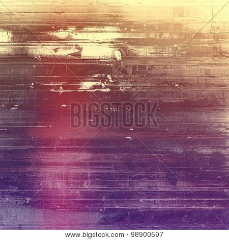 Abstract rough grunge background, colorful texture. With different color patterns: yellow (beige); brown; purple (violet); pink