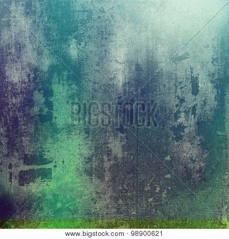 Old texture as abstract grunge background. With different color patterns: green; purple (violet); gray; cyan