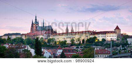 Panoramic View Of Prague Skyline