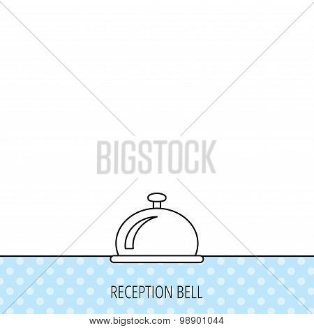 Reception bell icon. Hotel service sign.