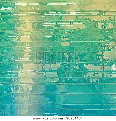 Old abstract grunge background, aged retro texture. With different color patterns: yellow (beige); green; blue; cyan
