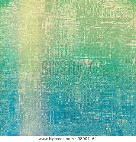 Old background or texture. With different color patterns: yellow (beige); green; blue; cyan