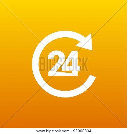 twenty four Hr service sign vector business symbol