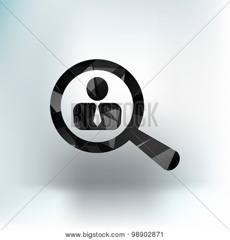 Search people icon human business symbol