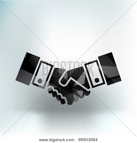 Handshake vector icon hake meeting business