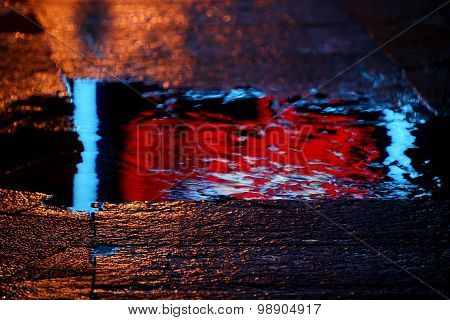 Reflection In A Puddle After Rain Advertising