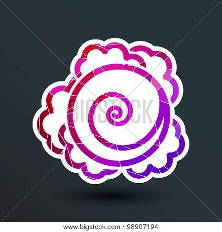 Cabbage. Vector hand drawn vegetables kale logo