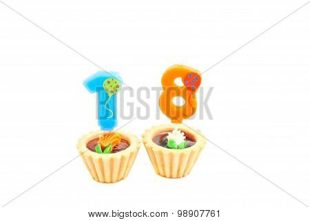 Cakes With Eighteen Years Birthday Candles