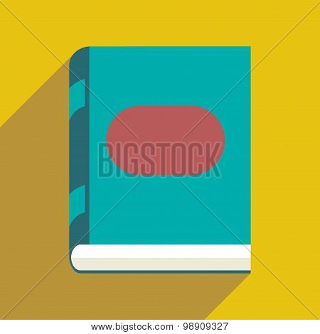 Flat with shadow icon and mobile application book icon