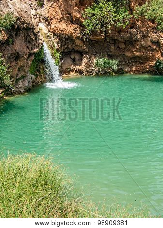 Small waterfall in Pego do Inferno