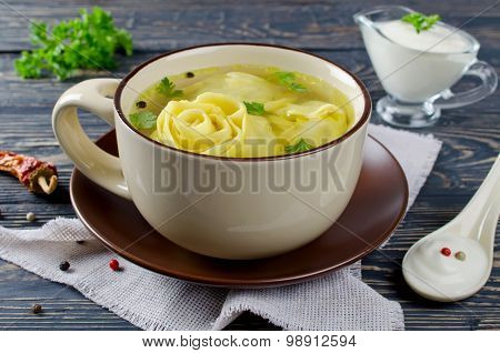Lazy Dumplings In Broth