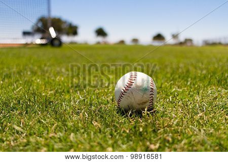 Baseball At A Field By The Pacific Ocean