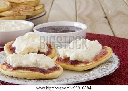 Plate of Piklets with Jam and Cream