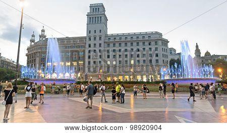 Plaza De Catalunya - Night View