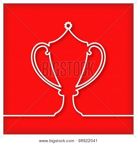 Winner double-handed cup icon