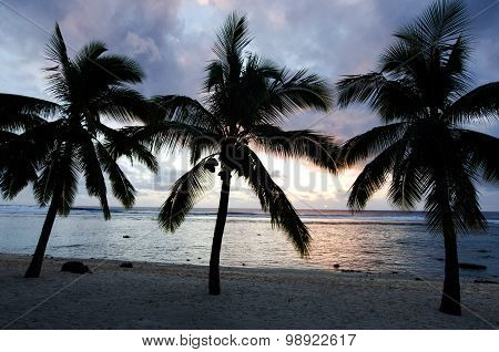 Titikaveka Beach In Rarotonga Cook Islands