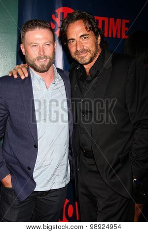 LOS ANGELES - AUG 10:  Jacob Young, Thorsten Kaye at the CBS TCA Summer 2015 Party at the Pacific Design Center on August 10, 2015 in West Hollywood, CA