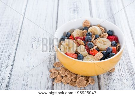 Healthy Breakfast (cornflakes With Fruits)