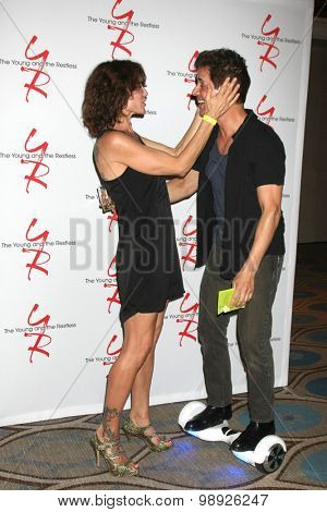 LOS ANGELES - AUG 15:  Stacy Haiduk, Christian LeBlanc at the