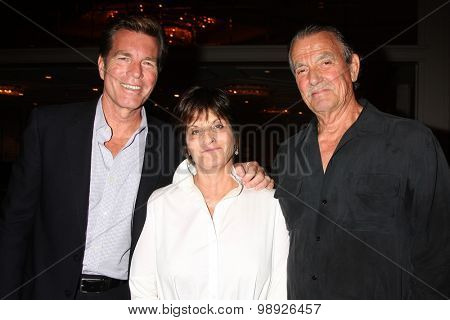 LOS ANGELES - AUG 15:  Peter Bergman, Jill Farren Phelps, Eric Braeden at the