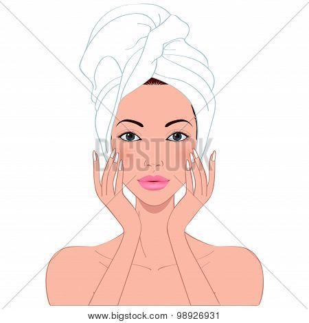Beautiful Woman's Skin Care