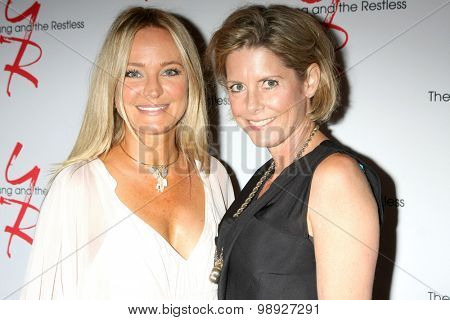 LOS ANGELES - AUG 15:  Sharon Case, Sarah Moses at the