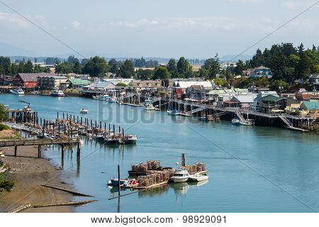 La Conner Washington Waterfront and Fishing Port on Swinomish Channel