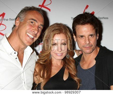 LOS ANGELES - AUG 15:  Brian Landow, Tracey E. Bregman, Christian LeBLanc at the