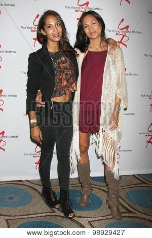 LOS ANGELES - AUG 15:  Christel Khalil, Nadine Nicole at the