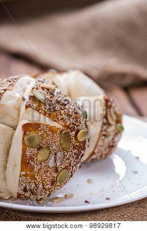 Fresh Baked Pretzel Rolls (with Seeds)