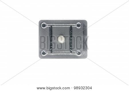 Oral contraceptive pill isolated on white background