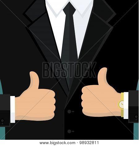 Business man in black