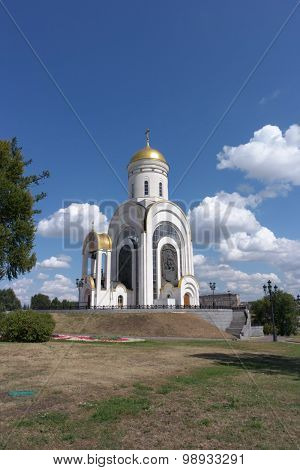 image of Church at dry sunny day