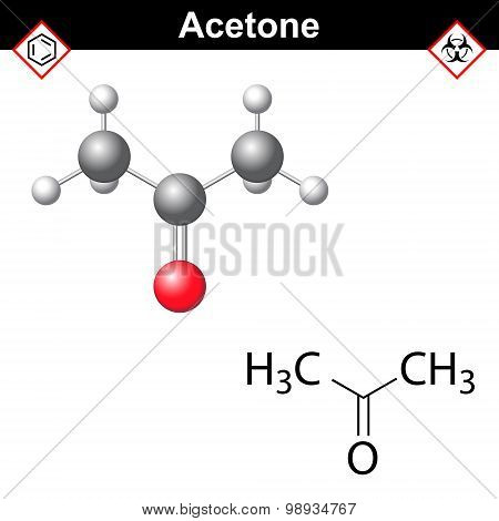 Acetone Model And Chemical Formula
