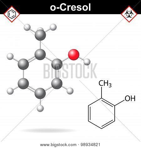 Cresol Molecule, Ortho-cresol Isomer