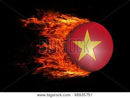 Flag With A Trail Of Fire - Vietnam