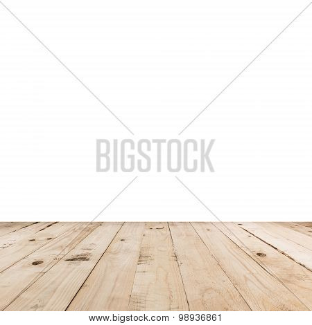 Empty Room Interior And Wood Floor With Space
