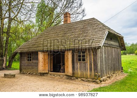 Old shed in Lithuania