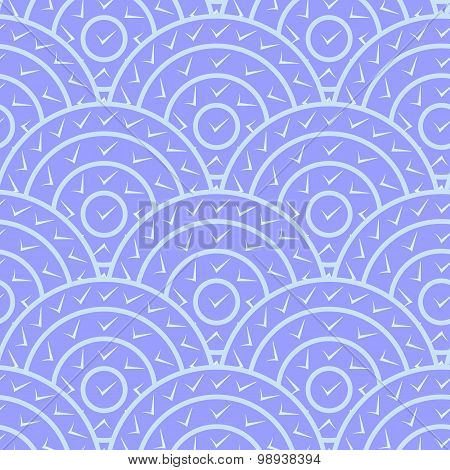 Circle With Tick Shape Vector Seamless Pattern. You can find ful