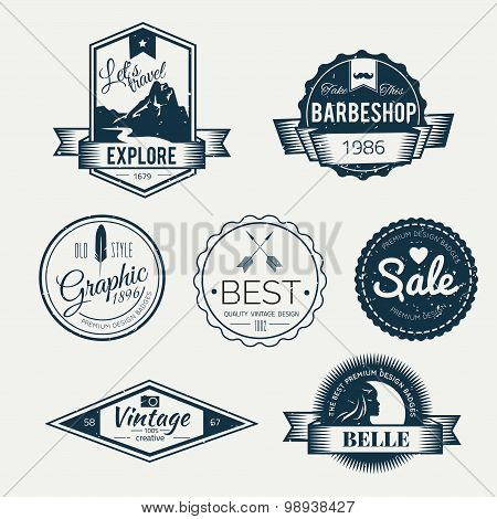 Badges Collection  - vector logos template.