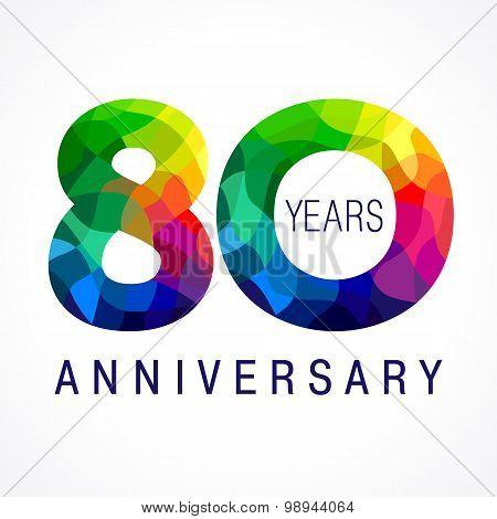 80 anniversary color logo