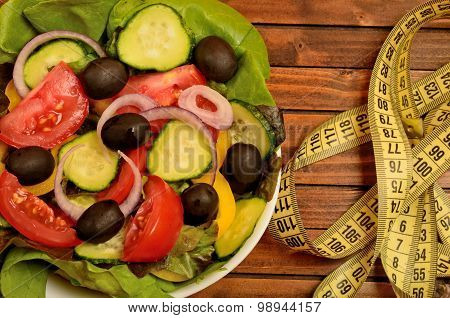 Vegetable Salad With Centimeter